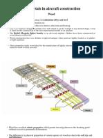 Non metals in aircraft construction