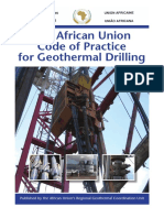 The African Union Code of Practice for Geothermal Drilling