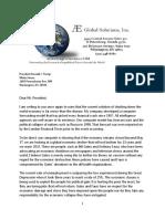 President Donald Trump Letter April 13 RF