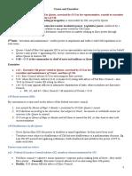 Australian Constitutional Law LPAB 2020 Summer Exam notes Executive Power, Judicial Power, Fed Power