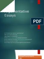 Argumentative Essays