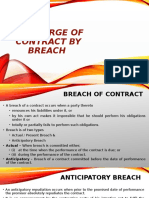 Discharge of Contract by Breach