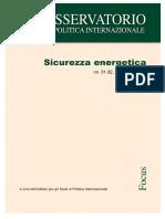 2017 - La sicurezza energetica italiana ed europea vol.XXXI-XXXII