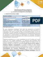 syllabus del curso diagnósticos psicológicos