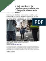 Las colas del hambre y la pobreza inician su escalada en Madrid