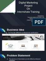 Digital Marketing Project On  Internshala Training