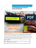 Gas Detection and PPM Measurement using PIC Microcontroller