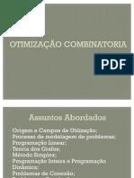TRABALHO - OTIMIZAÇÃO COMBINATORIA