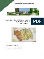 Planul de Mentinere a Calitatii Aerului în județul Bacău