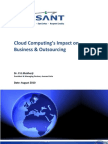 Avasant View of Cloud Computing's Impact on Business & Outsourcing Aug 2010