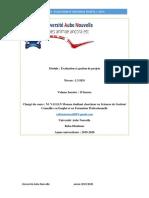 évaluation et gestion de projet L3_SEG__ U__Aben novembre 2019