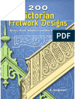 200 Victorian Fretwork Designs Borders, Panels, Medallions and Other Patterns