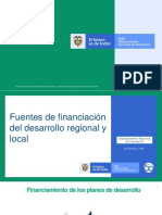 Fuentes de financiacion del desarrollo regional y local