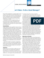 Do You Have What It Takes to Be a Great Manager