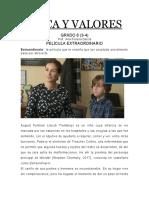 ACTIVIDAD ETICA Y VALORES GRADO 6 (3-4)