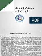 Hechos de los Apóstoles capítulos 1 al 5