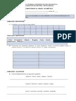 evaluacion diccionario y mayusculas