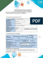 Guía de actividades y rúbrica de evaluación - Tarea 4 - Reconocimiento y presentación anatómica