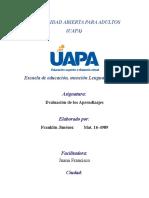 TAREA VI. EVUALACION  DE LOS APRENDIZAJES. FRANKLIN JIMENEZ.rtf
