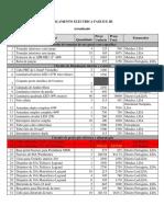 ORÇAMENTO ELÉCTRICA FASE II E III Actualizado V2