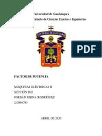 Factor de Potencia - Maquinas Electricas II
