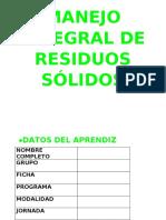 MANEJO INTEGRAL DE RESIDUOS SOLIDOS
