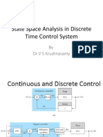Unit-III-State Space Analysis in Discrete Time Control System