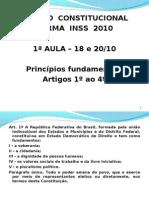 art 1 ao 4 CF INSS 18 e 20102010