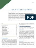 Anatomie du foie et des voies biliaires