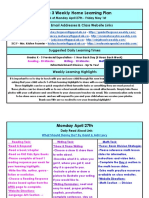 april 27 - may 1 - grade 3 weekly home learning plan