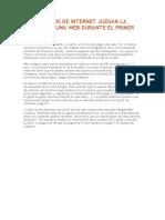 LOS USUARIOS DE INTERNET JUZGAN LA CALIDAD DE UNA WEB DURANTE EL PRIMER PARPADEO