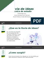 LLUVIA DE IDEAS PRESENTACIÓN GENERAL