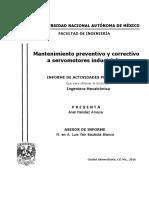 Mantenimiento preventivo y correctivo a servomotores industriales.