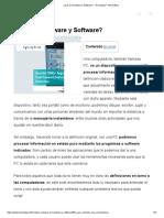 ¿Qué es Hardware y Software_ - Tecnología + Informática