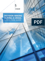 Decision Making During a Crisis - Practical Guide