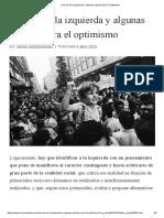 Errores de la izquierda y algunas razones para el optimismo