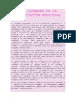 LOS ALCANCES DE LA   CALIFICACIÓN REGISTRAL