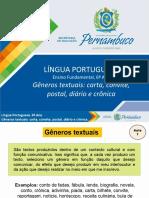 Gêneros textuais - carta, convite, postal, diário e crônica.ppt