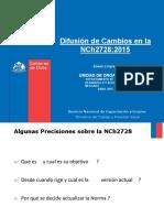 Nueva Version presentación  NCh 2728-2015