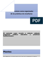 El Curriculum como organizador