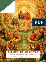 Letanías de Los Santos para las Rogativas mayores y menores.