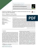 011_unsteady Aerodynamics Simulation of a Full-scale Horizontal Axis Wind Turbine Using CFD Methodolgy