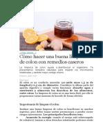 LIMPIEZA DE COLON VERDURAS Y FRUTAS