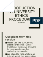 Introduction to University Ethics Procedures(3)