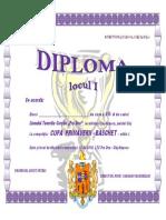 BASCHET - Diplomă 2018