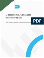 Conceptos y características ceremonial protocolo