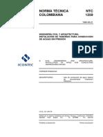 NTC 1259 Instalación de Tuberias para Conducción de Aguas sin Presión.pdf