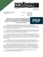 Kaplan Credit History Suit EEOC Press Release