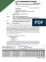 1. INFORME Nº003 PRESENTACION DE PLANILLA DE OBREROS