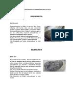 LABORATORIO ROCAS SEDIMENTARIAS NO CLASTICAS